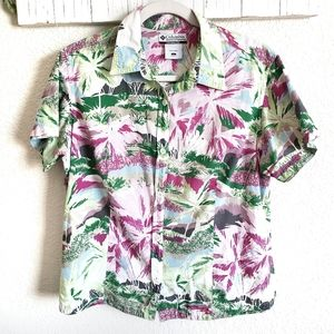Columbia Short Sleeve Button Down Shirt Large
